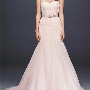 Strapless Tulle Mermaid Wedding Dress